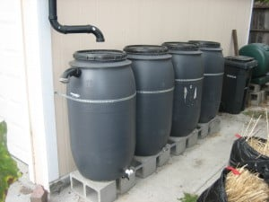 Four barrels create 200 gallons of storage.