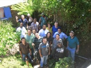 Greywater class with Laney College's Green Jobs program