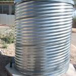 Metal cistern