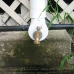 Dripping faucet releases 1st flush rainwater