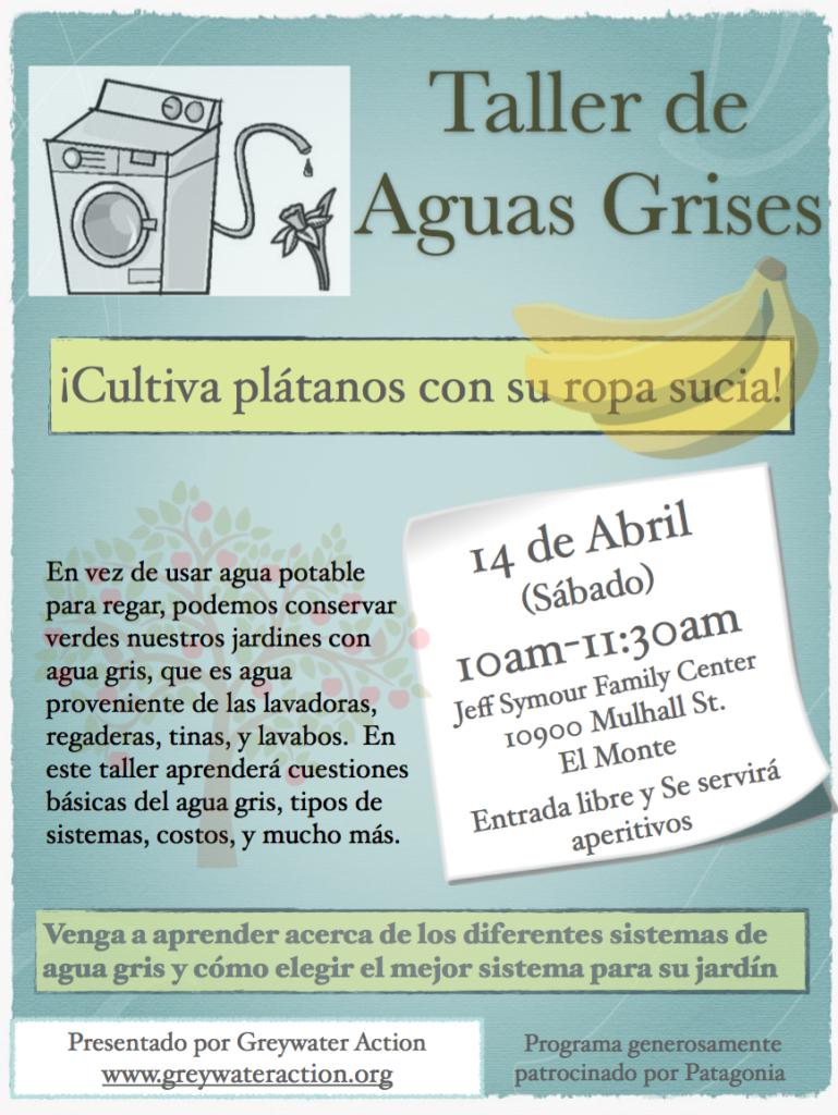 Taller De Aguas Grises El Monte Greywater Action